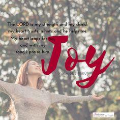 Psalm 28:7~How to stop the enemy from stealing your joy.