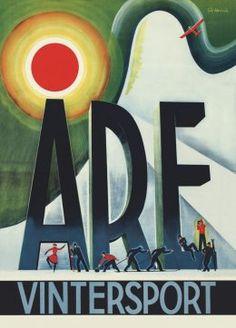 Göte Hennix - Affischer Retro - Åre vintersport