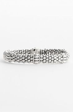 Lagos Fluted Station Caviar™ Rope Bracelet available at #Nordstrom