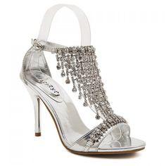Graceful Rhinestones and Fringe Design Women's Sandals