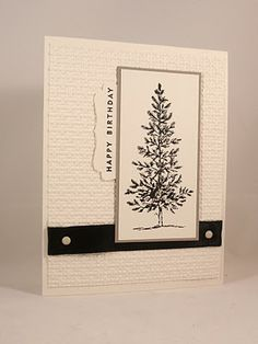Lovely as a tree - Black & White Masculine Card