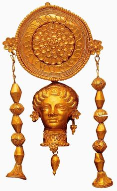 Орнамент и стиль в ДПИ - Античные украшения. Часть 1. Серьги Earring. Middle of the 4th century BC. e. Greece. gold; chasing, filigree National Archaeological Museum. Taranto, Italy. One of a pair of earring that was found in a woman's burial in Crispian, South Puglia.