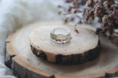 Heather Resin Ring Clear Transparent Resin Ring Terrarium #resin #heather #ring #clear #epoxy #transparent #bigsize #floral #flower