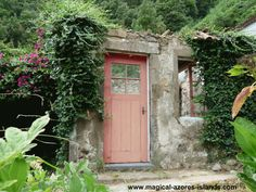 An abandoned home with a painted door. This forgotten property is found in the tiny seaside town of Faial da Terra. This small town is in the beautiful Azores Island of Sao Miguel