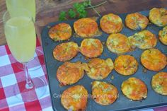 Mini frittata's uit cupcakebakvorm