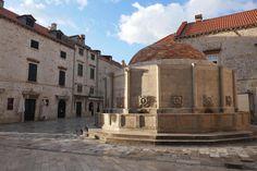 Onofrio's Fountain in Dubrovnik, Croatia | heneedsfood.com