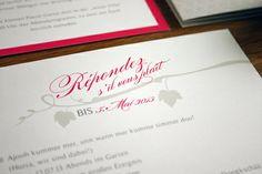 wedding invitation wine / einladungskarte hochzeit auf dem weingut