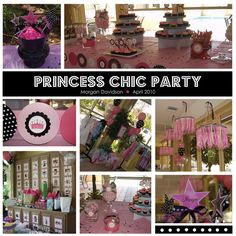 Pink, black and white princess chic party