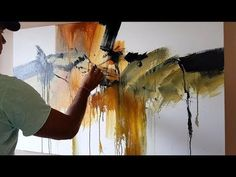 "Abstract painting / 30""x 48"" / Acrylics / Demonstration 