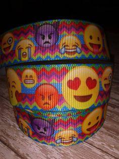 Emoji  #2 Grosgrain Ribbon by RibbonstoBowsandMore on Etsy