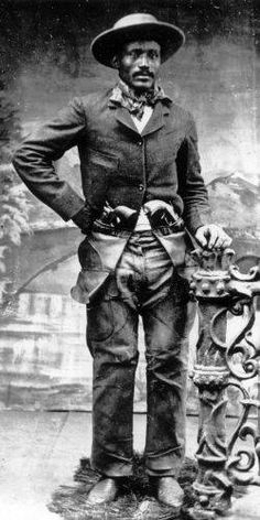 """Dart, Isom (1849-1900) Image Ownership: Public Domain  Ned Huddleston (also known as Isom Dart) was born into slavery in Arkansas in 1849. His reputation as a rider, roper and bronco-buster earned him the nicknames of the """"Black Fox"""" and the """"Calico Cowboy."""" He was also a notorious Wyoming Territory outlaw."""