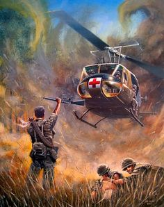 Dustoff by Joe Kline Military Guns, Military Art, Military Helicopter, Indian Army Special Forces, Kargil War, Good Morning Vietnam, Military Drawings, Combat Medic, Vietnam War Photos