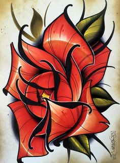 x mixed media on hot press watercolor paper. This is a one of one, original piece made by David Tevenal. Will ship framed and wit. Graffiti Doodles, Graffiti Drawing, Skull Tattoo Flowers, Flower Tattoo Designs, Flower Outline, Flower Art, Rose Tattoos, Flower Tattoos, Tattoo Sketches