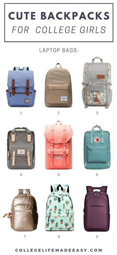 Which backpack is your favorite? I'm loving all these cute bags for school they're perfect for colle Stylish Backpacks For College, Best Backpacks For School, Cool Backpacks, Best Bags For College, Bags For College Students, College Girls, College Fun, College Success, College Notes