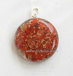 #Red_Jasper_Orgone_Disc_Pendant excellence amp; Powerful Orgone Pendant with Red Jasper strengthens root chakra, increases your life force, activates sexual energy, #aluminium, #copper amp, #Copper_Coil.  To know more<> http://products.bizbilla.com/Red-Jasper-Orgone-Disc-Pendant_detail127590.html