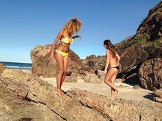 MERMAID LIFE - playing on the sand and rocks collecting sea shells - #lovelifeincacao #cacaobikini ---- www.CACAOBIKINI.com