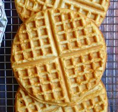 These 3-ingredient waffles are a wonder: golden, fluffy, and crispy-edged, they take 2 minutes to make & 5 minutes to cook! Made with chickpea flour, they are naturally vegan, grain-free & gluten-free.I love a good waffle, especially if it is golden, fluffy, crispy at the edges, and...