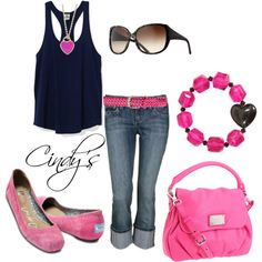 Black and Pink, created by cindycook10 on Polyvore