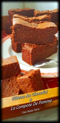 Chocolate Cake with Applesauce Ww Desserts, Healthy Dessert Recipes, Chocolate Desserts, Chocolate Cake, Cake Recipes, Dessert Ww, Dessert Pots, Vegan Recipes, Cupcakes