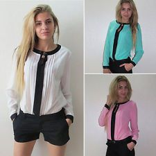 Fashion Women's Ladies Long Sleeve Tee Shirt Casual Loose Blouse Tops