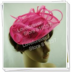 PROMOTION Ladies elegant feather flowers sinamay  fascinators veil  party hats bridal hair accessories cocktail hats  P16