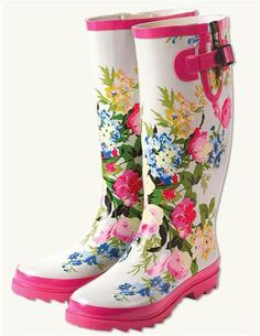 Victorian Trading Co. Pink Floral Wellies Rubber Rain BOOTS Sz 10 Ship for sale online Floral Wellies, Floral Boots, Pink Boots, Wellies Rain Boots, Cute Rain Boots, Victorian Trading Company, Vtc, Rubber Rain Boots, Shoes