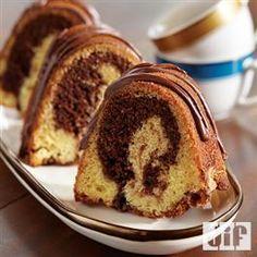 Chocolate Hazelnut Swirl Pound Cake from Pillsbury® Baking Bundt Pound Cake Recipe, Pound Cake Recipes, Pound Cakes, Just Desserts, Delicious Desserts, Dessert Recipes, Yummy Food, Yummy Recipes, Tasty