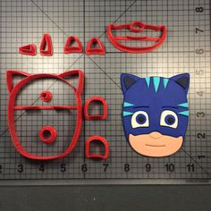 PJ Mask- Cat Boy Cookie Cutter Set JBCookieCutters.com customizes moldings, cookie cutters, cookie cutter, cutters, cutter, silicone mold, silicone molds, stencil, stencils, baking supplies, baking