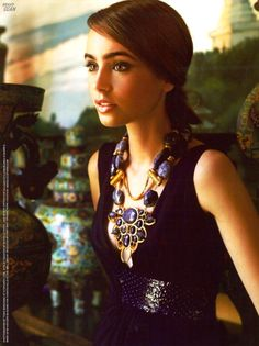 Lilly Collins....cute.
