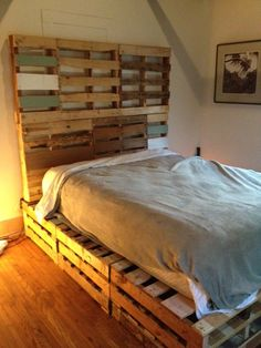 Pallet bed courtesy of my handyman :)