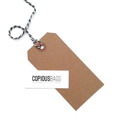 100 Large Kraft Parcel Tags 100 Recycled Kraft Tags by CopiousBags