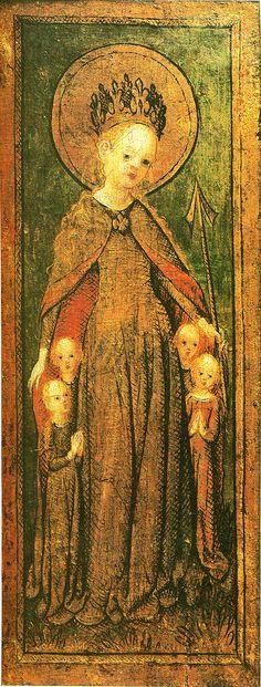 Stefan Lochner (German artist, Saint Ursula 1430 Stefan Lochner (German artist, Saints Matthew, Catherine of. Saint Matthew, Ursula, Middle Ages, Saints, German, Female Clothing, Painting, Artists, Deutsch