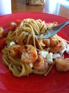 Greek Style Shrimp Scampi | lemonsforlulu.com