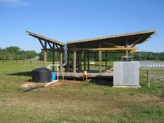 Large scale Guzzler water collection system http://www.clemson.edu/sustainableag/baseimages/projects/rainwater_building_big.jpg