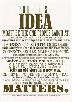 Promising. Confirming. Your Best Idea... Designed by Grace Orris Written by Bernadette Jiwa
