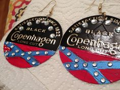 Omg I am laughing so hard these scream southern Illinois Cute Jewelry, Jewelry Crafts, Homemade Coasters, Cowgirl Wedding, Redneck Girl, Confederate Flag, Country Jewelry, Country Fashion, Country Girls