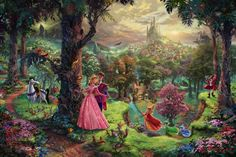 Thomas Kinkade - Disney Ill be honest.as an art history major I can't stand Thomas kinkade but these Disney paintings are my only exceptions! Cuz I love disney so much! Disney Kunst, Art Disney, Film Disney, Disney Love, Disney Pixar, Disney Canvas, Disney Monsters, Disney Artwork, Disney Tangled