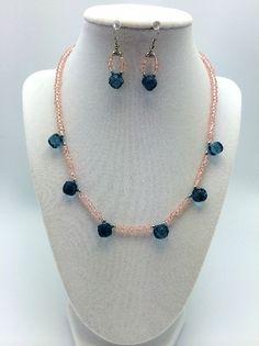 gorgeous precious gemstone necklace & earrings 1015saq