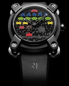 @rjromainjerome presentó una nueva colección con dos nuevos relojes también en una edición limitada de 78 piezas. Se trata de los Space In- vadersTM Pop equipados con un movimiento mecánico automático hecho en suiza y con la posibilidad de disponer de una caja de titanio de 46 mm o de acero de 40 mm. #romainjerome #reloj #watch #spaceinvaders #videojuego #videogame #tiempo #time #hora #lujo #luxury  via ROBB REPORT MEXICO MAGAZINE OFFICIAL INSTAGRAM - Luxury  Lifestyle  Style  Travel  Tech…