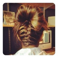 French #braid bun