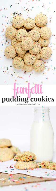 Funfetti Pudding Cookies | JenniferMeyering.com