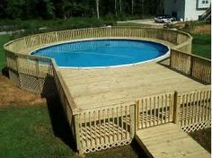 image result for above ground pool decks - Above Ground Pool Privacy Fence Ideas