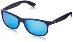 Occhiali da sole Ray-Ban Andy RB4202 C55 615355. Ray-Ban di Colore Blu, Plastica, Rettangolare. 4202,