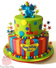 Specialty Cakes for Boys & Girls page 4 Fondant Cakes, Cupcake Cakes, Boys First Birthday Cake, Cake Birthday, Birthday Ideas, Circus Birthday, Circus Theme, 20th Birthday, Circus Party