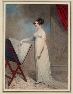 Adam Buck, Margaret Buck with portfolio, 1804