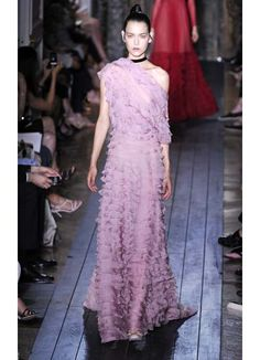 This Valentino one-of-a-kind lavender hue stands out among the neutral tones of Fall.