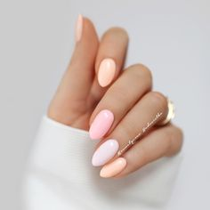 Exquisite Pastel Color Nails To Freshen Up Your Look - crazyforus : Exquisite Pastel Color Nails To Freshen Up Your Look: Peach Pastel Colors Nails Designs Perfect Nails, Gorgeous Nails, Love Nails, Pretty Nails, My Nails, Pretty Nail Colors, Pastel Color Nails, Pastel Colors, Pastel Shades