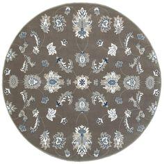 Adana Gray/Blue 9 ft. 1 in. x 9 ft. 1 in. Vibrant Round Indoor Area Rug