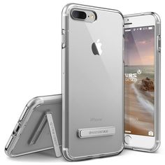 - A clear back, lightweight, and minimalistic design: the Crystal Mix is a single layer premium polycarbonate case perfect for your Apple iPhone 7 Plus. - Metal kickstand: conveniently watch or read o