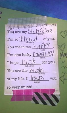 Mother's Day mad lib!